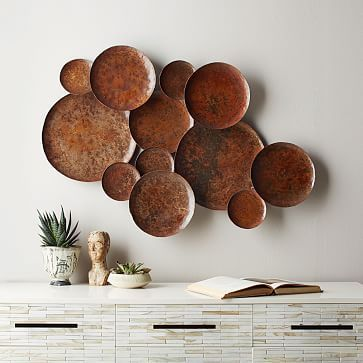 Abstract Metal Pebble Wall Art #westelm