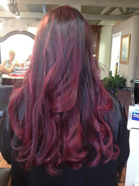 my red violet ombre hair pinterest