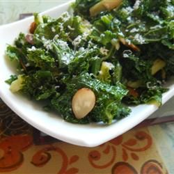 Parmesan | Kale is sauteed in butter and tossed with toasted pine nuts ...