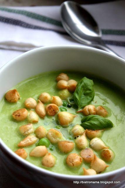 bistro mama: Zupa krem z zielonego groszku