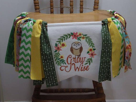 Highchair banner-garland Birthday banner/garland Wild with