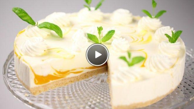 Gemarmerde mango-yoghurttaart - Rudolph's Bakery   24Kitchen