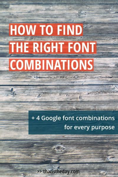 Even if youre not a designer, just by choosing great font combinations you can make a simple text more interesting or create a layout just based on fonts. Learn how to choose the right combination   thatistheday.com