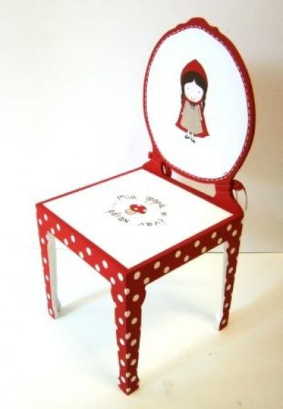 Red Riding Hood handpainted chair for little girls!
