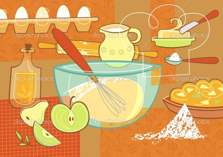 Image detail for -Still life with baking supplies | Stock Vector © Sofya Dushkina ...