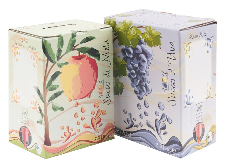 #Scatolificio Udinese #BaginBox for apple and grape juice