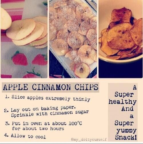Image de apple, chips, and Cinnamon