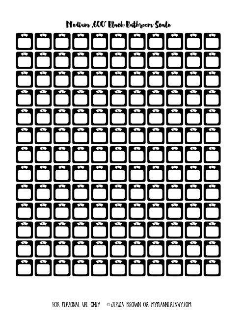 "Medium .600"" Black Bathroom Scales on myplannerenvy.com"