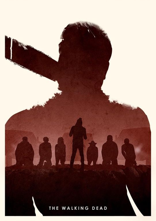 [FAN ART] Negan edition of The Walking Dead poster by Ryan Ripley : thewalkingdead