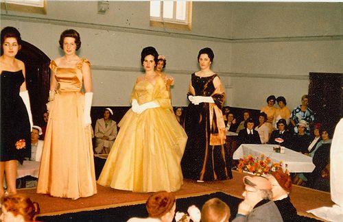 1960s Dressmaking students fashion parade. Geelong, Australia.