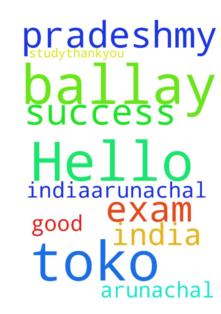 Hello my name is toko Ballay from india,(arunachal - Hello my name is toko Ballay from india,arunachal pradeshmy request is for exam success and good study.thankyou Amen. Posted at: https://prayerrequest.com/t/rPV #pray #prayer #request #prayerrequest