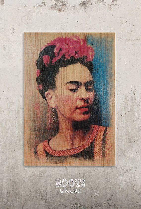 Frida Kahlo - Perfil // Transfer on wood