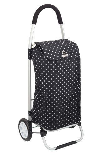 Cool-Movers-Kitchen-Craft-Aluminium-Folding-Shopping-Trolley-Black-Polka-Dot