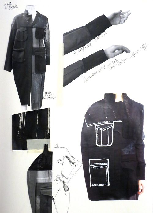 Fashion Sketchbook - jacket design; fashion illustration; fashion portfolio layout // Connie Blackaller