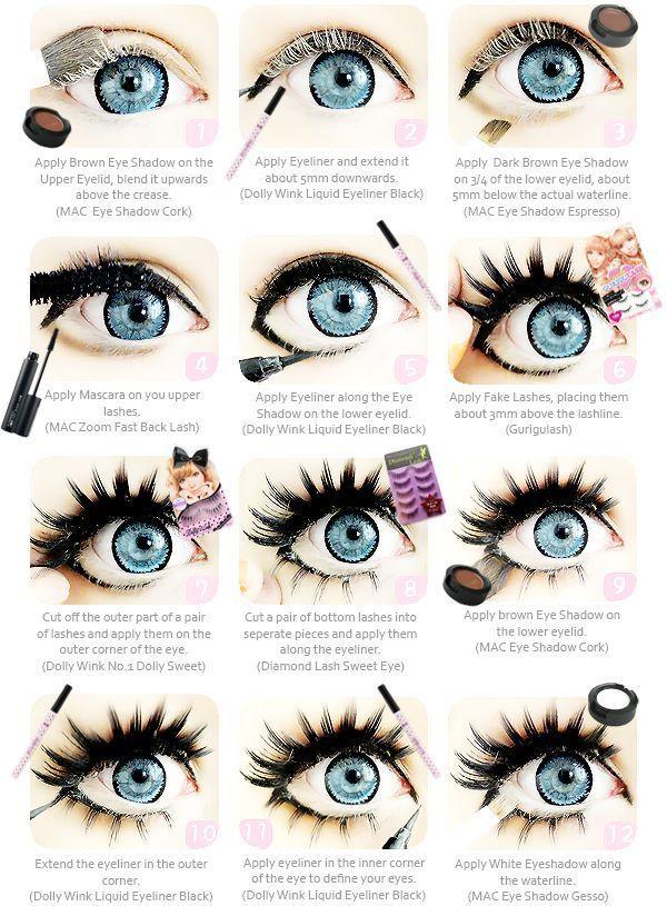 maquillage yeux kawaii