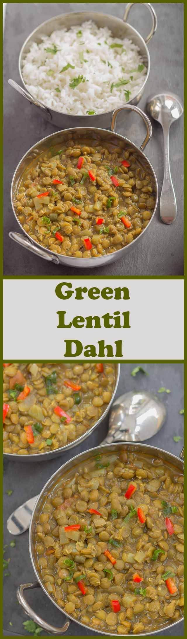 This vegan green lentil dahl is simply delicious, mouth-watering and perfect as a meat free dinner. Filling and with just the right amount of chilli spice, even meat eaters will find this agreeable too!