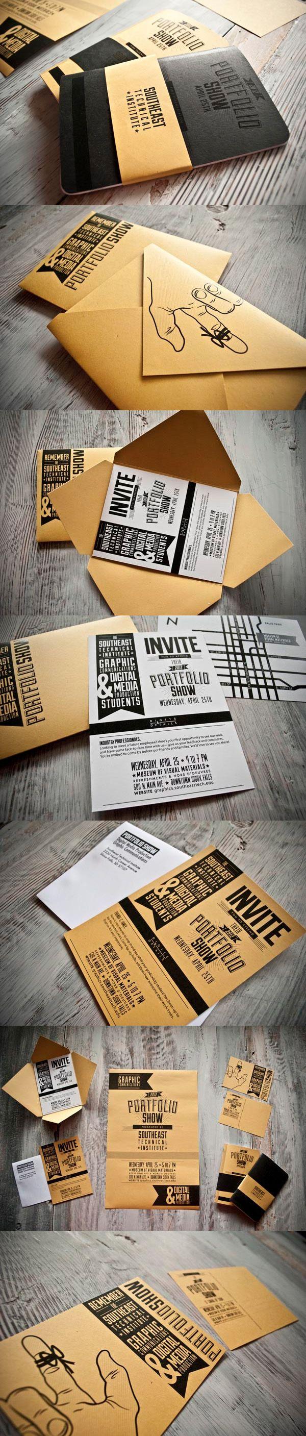 Southeast Technical Institute Portfolio Show  //  #PrintDesign #GraphicDesign #Inspiration