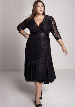 en plus robe de soirée taille Carmella dentelle robe