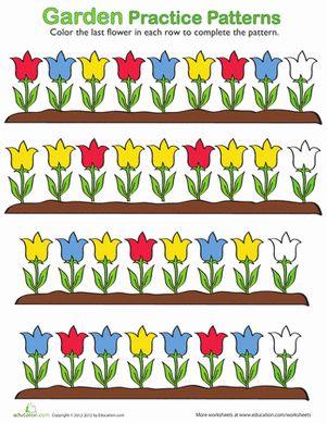 Number Names Worksheets pattern recognition worksheets kindergarten : 1000+ images about Kindergarten Patterning on Pinterest