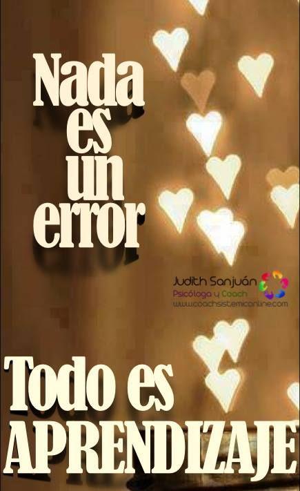 Sólo que, ...hay que aprender de el error, de lo contrario...... continuaremos errando...