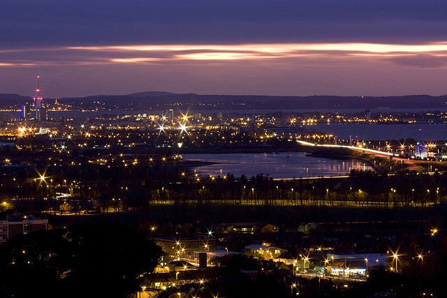 Portsdown Hill. A beautiful place to soak up a view of Portsmouth in it's entirety.