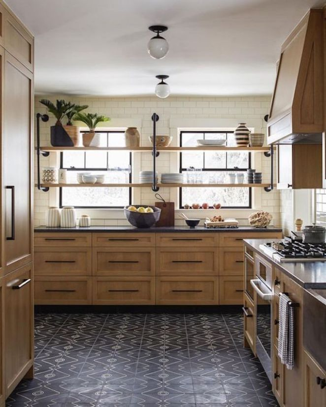 Today I M Featuring The Top 11 Inspirations From My Pinterest Boards In The Last Week Each Space Ha Black Tiles Kitchen Kitchen Trends Interior Design Kitchen