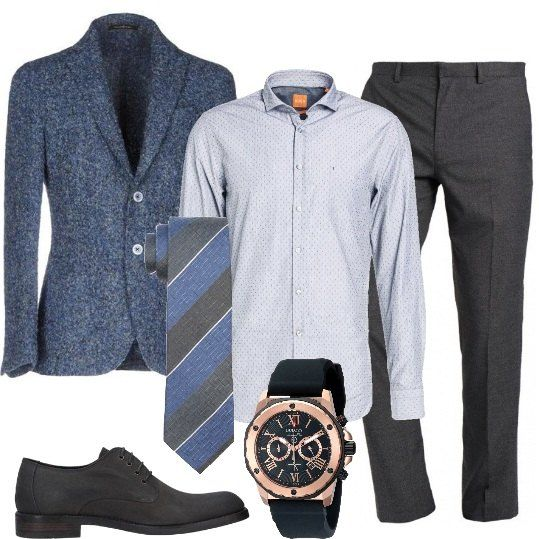 giacce pianca pantalone blu