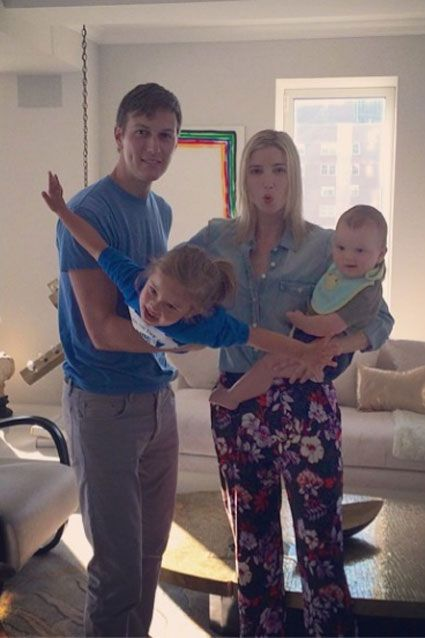 Ivanka Trump with husband Jared Kushner and daughter Arabella and son Joseph