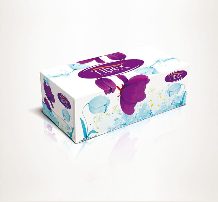 Elegant graphic design template for a tissue box on ...