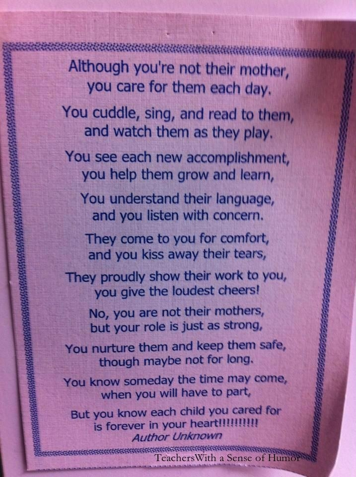 thank you to teachers who truly care and are gifted to be this kind of a teacher