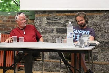 Gérard Pourcel et Laurent Herrou lors d'une soirée de rencontres d'auteurs à la Fierté Littéraire montréalaise 2012