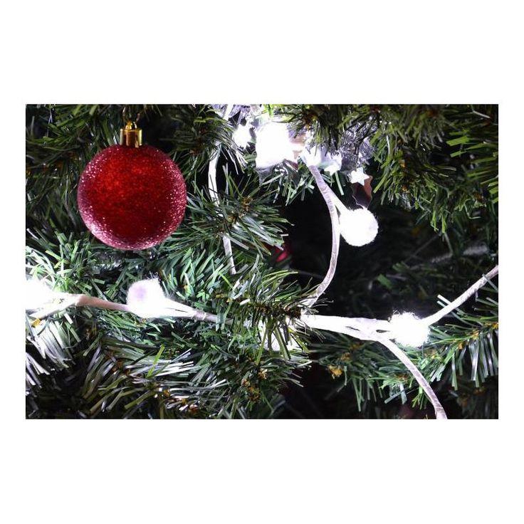 Vánoční interiérové osvětlení - sněhové vločky - 48 LED, studeně bílé, do zásuvky - www.guge.cz