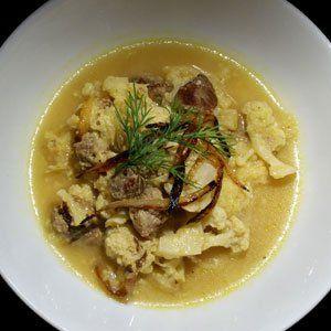 Meaty Cauliflower & Yoghurt stew