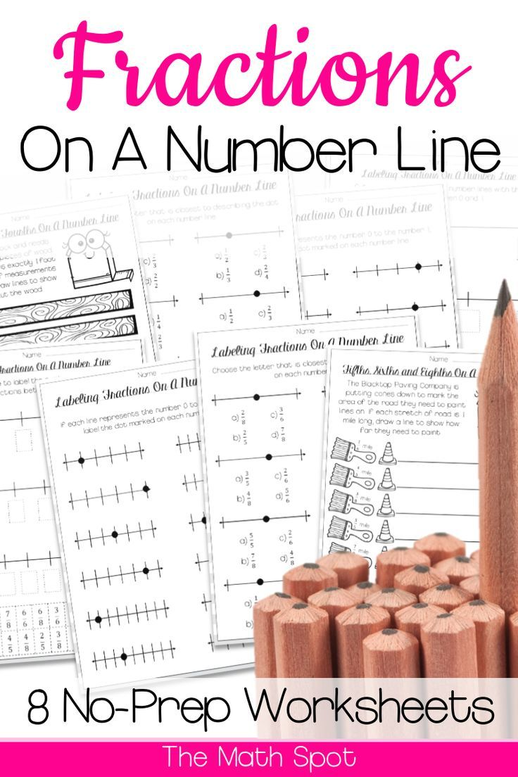 Fractions On A Number Line Worksheets Distance Learning Packet Number Line Fractions Elementary Math Lessons [ 1104 x 736 Pixel ]