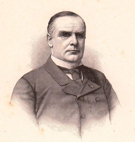 Portrait-XIXe-William-McKinley-Niles-Ohio-25th-President-of-the-United-States