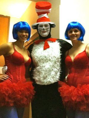 Cat in the Hat, Thing 1, Thing 2 - CollegeHumor Halloween