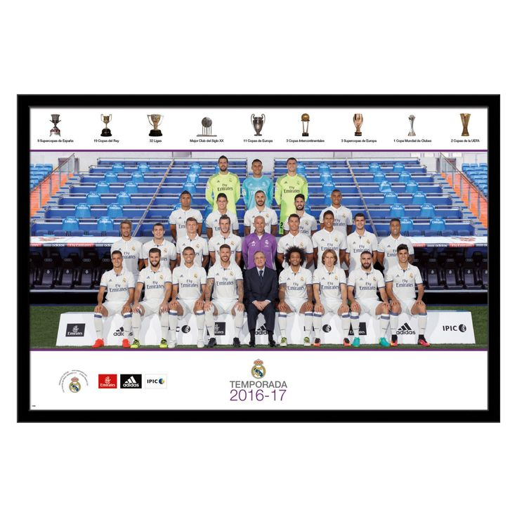 Trends International Real Madrid - Team Wall Poster 2016-2017 - 22W x 34H in. - FR15490BLK22X34