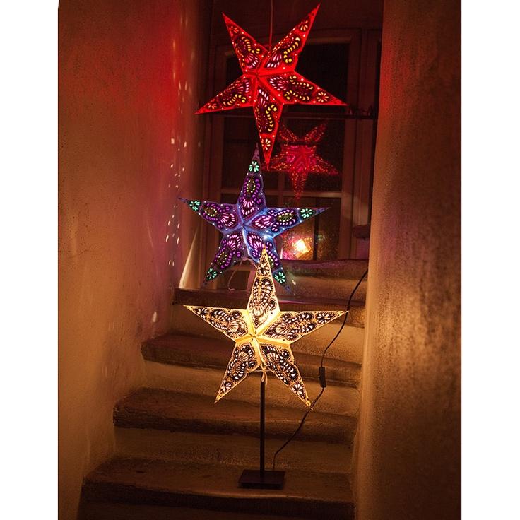Julstjärna på fot Ganesha från Watt o Veke