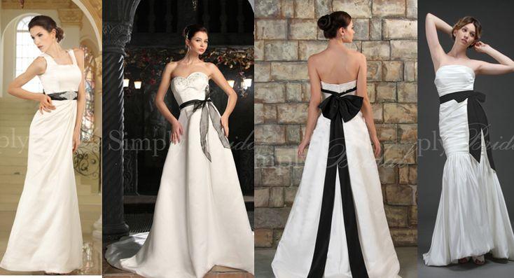 The perfect black tie wedding dress