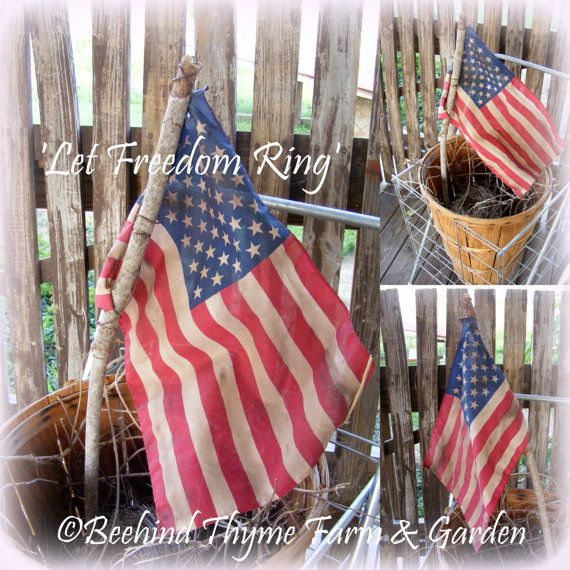 Independence Day Flag / Fourth of July Flag by beehindthymemarket, $14.50