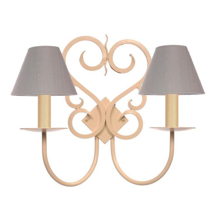 Double Jalousie Wall Light in Plain Ivory
