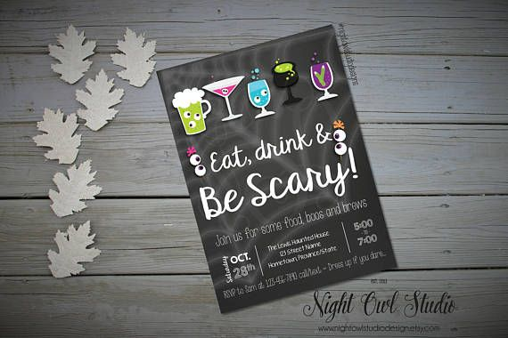 Hey, I found this really awesome Etsy listing at https://www.etsy.com/ca/listing/545319456/halloween-party-invitation-halloween