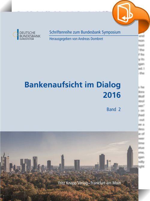 Bankenaufsicht im Dialog 2016    ::  2016 ist für die Bankenregulierung ein entscheidendes Jahr: Bis Ende dieses Jahres soll das Basel-III-Rahmenwerk endgültig abgeschlossen sein. Wenn dieses Rahmenwerk international einheitlich umgesetzt ist, wird es einen wichtigen Beitrag dazu leisten, das Finanzsystem als Ganzes stabiler und sicherer zu machen. Die aktuelle Überarbeitung der Verfahren zur Messung der Bankrisiken und Bestimmung der nötigen regulatorischen Mindestkapitalanforderungen...