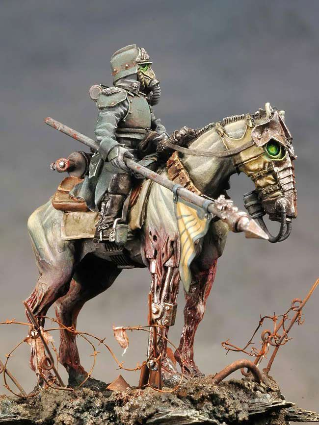 Steampunk rider [painted miniature]