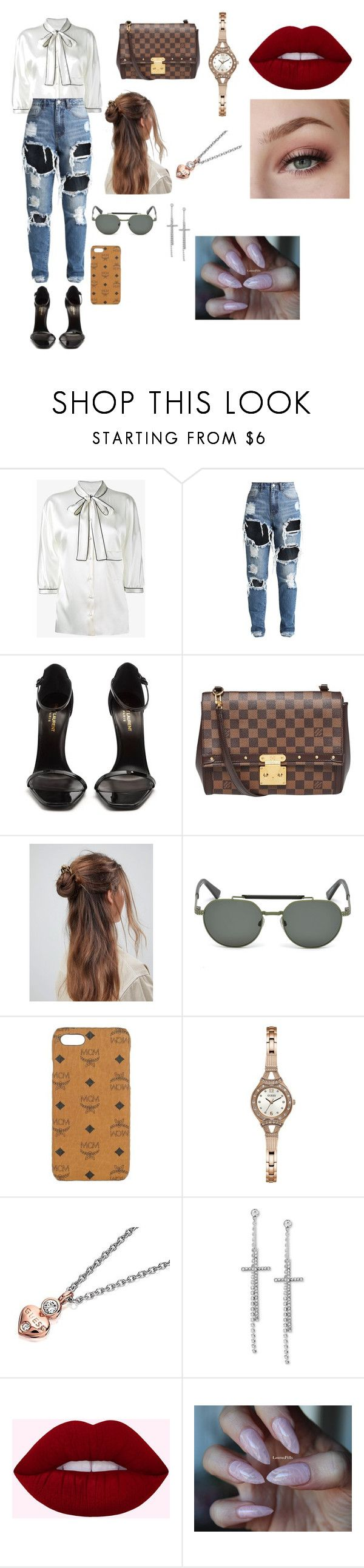 """Instagram"" by amandaemiily on Polyvore featuring Dolce&Gabbana, Yves Saint Laurent, Louis Vuitton, ASOS, Diesel, MCM e GUESS"