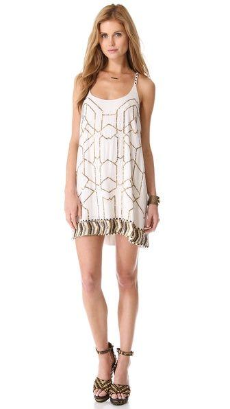 Love Sam Beaded Mini Dress on @Shopbop