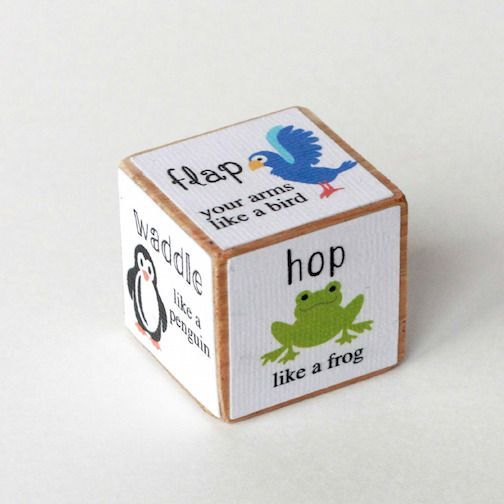 Animal Movement Activity Dice   fun Silhouette project the kids will love!