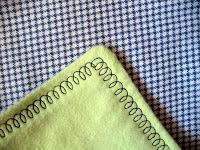 The Craft Patch: Easy Flannel Baby Blanket