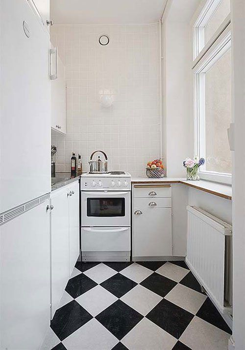 Black and White Checkered Tile.  My sister was lucky enough to buy a house with a vintage checkered linoleum kitchen floor from the 50's.  It's beautiful.