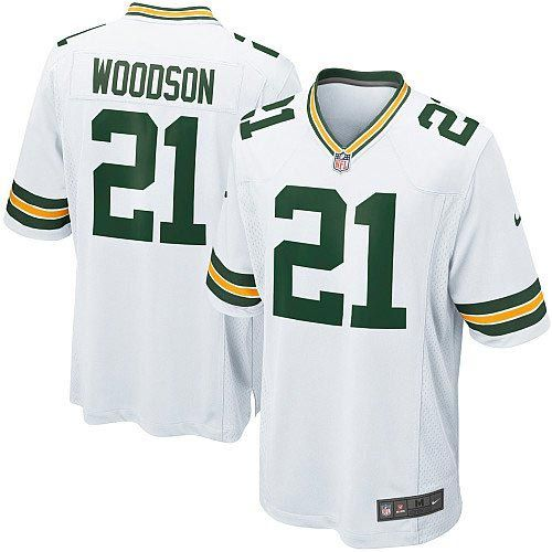 more photos 8c26e 81df7 nike green bay packers 21 charles woodson white limited kids ...